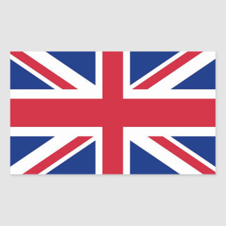 Rectangle sticker with Flag of United Kingdom