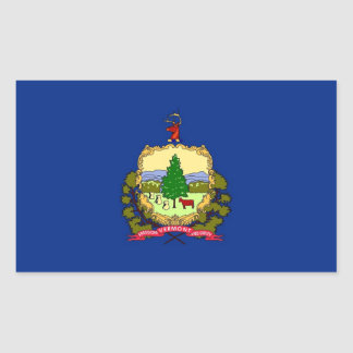 Rectangle sticker with Flag of Vermont
