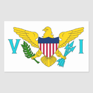 Rectangle sticker with Flag of Virgin Islands