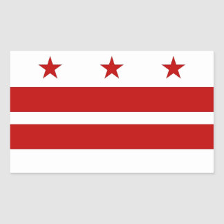 Rectangle sticker with Flag of Washington DC