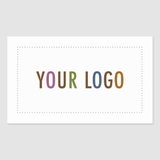 Company logo gifts on zazzle rectangle stickers 45quot custom company logo promo sciox Images