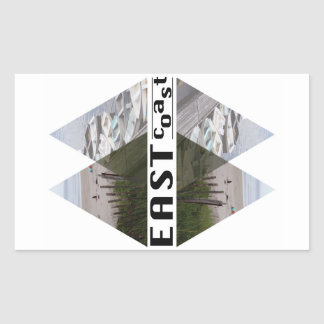 Rectangle Stickers EAST COAST