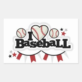 Rectangle Stickers/I Love Baseball Rectangular Sticker