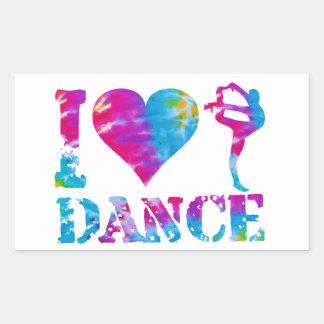 Rectangle TieDye Heart Love Dance gymnastics Cheer Rectangular Sticker