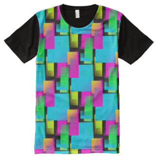 Rectangled All-Over Print T-shirt