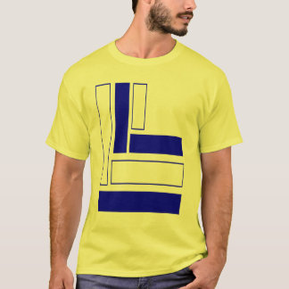 rectangles 4 T blue F T-Shirt