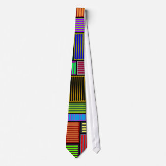 Rectangles and Lines Colorful Tie