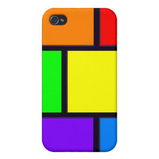 Rectangles and Squares iPhone 4 Covers