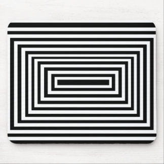 Rectangles Black and White Mousepad