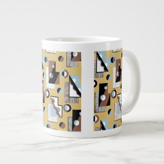 Rectangles Circles and Lines Large Coffee Mug