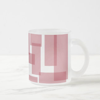 Rectangles Mug - Dark Red