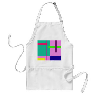 Rectangles Pink Adult Apron