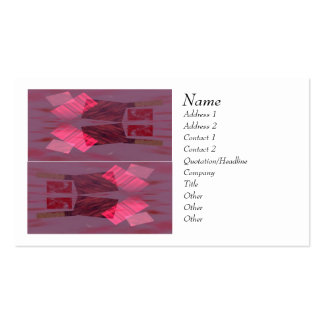 Rectangles Red Business Card