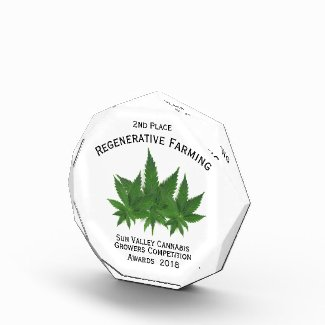 Rectangular Acrylic Marijuana Competition Trophy Award