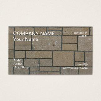 rectangular block pathway business card