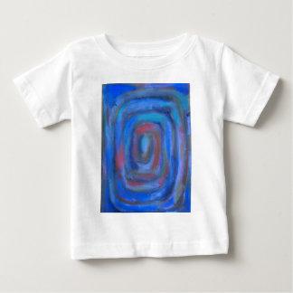 Rectangular Blue Pastel Spiral Baby T-Shirt