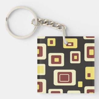 Rectangular Bullseye Pattern Keychain