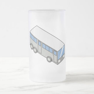 Rectangular bus frosted glass beer mug