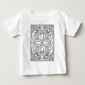 Rectangular celtic pattern black and white baby T-Shirt