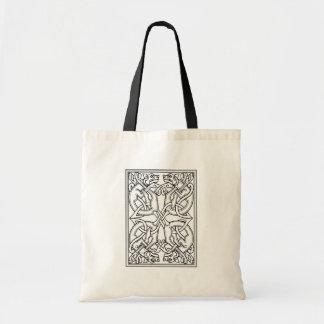 Rectangular celtic pattern black and white