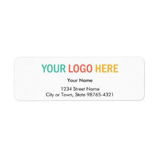 Rectangular company business logo return address label