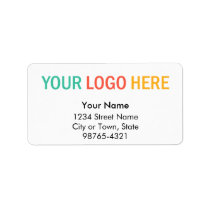 Rectangular company business logo return address label