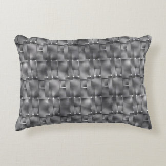 Rectangular forms of grey color and dark spots accent pillow