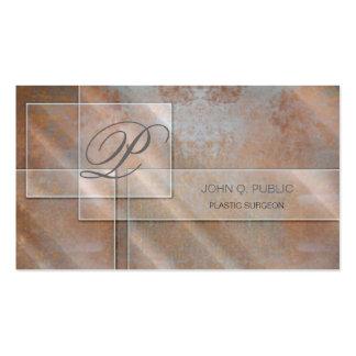 Rectangular Glass on Rust Business Card