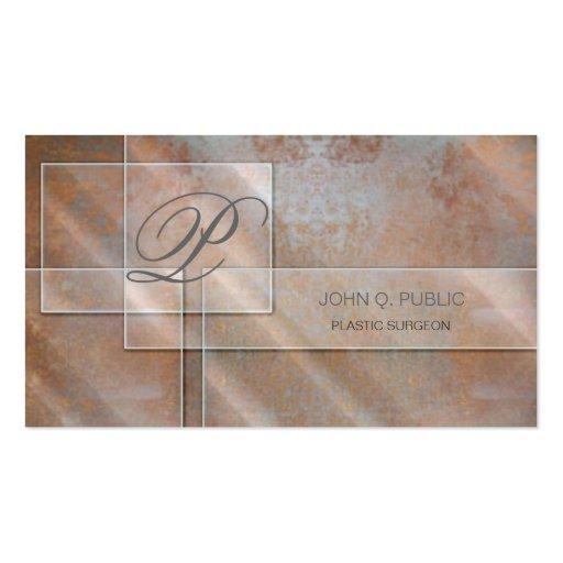 Rectangular Glass on Rust Business Card Templates