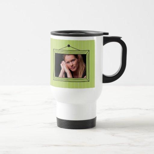 Rectangular handdrawn picture frame coffee mugs