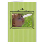 Rectangular handdrawn picture frame greeting cards