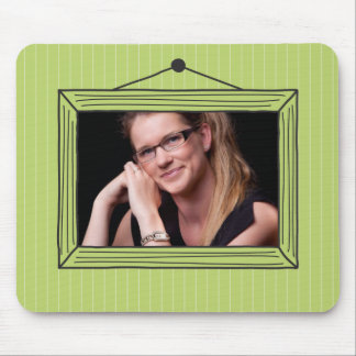 Rectangular handdrawn picture frame mouse pad