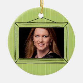 Rectangular handdrawn picture frame christmas ornament