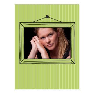 Rectangular handdrawn picture frame postcard