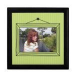 Rectangular handdrawn picture frame trinket boxes
