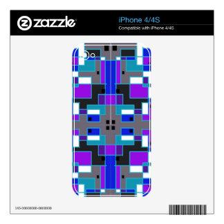 Rectangular Kaleidoscope iPhone 4S Skin
