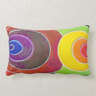 Rectangular Pillow Rainbow Spirals