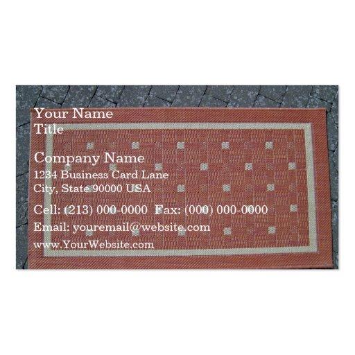 Rectangular Red floor Mat Business Card Template