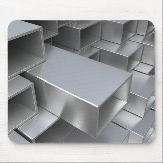 Rectangular steel tube mouse pad