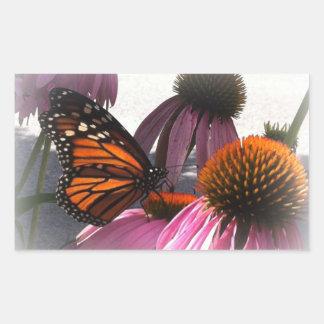Rectangular Stickers - Monarch Butterfly