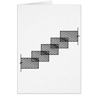 Rectangular stone stairs card