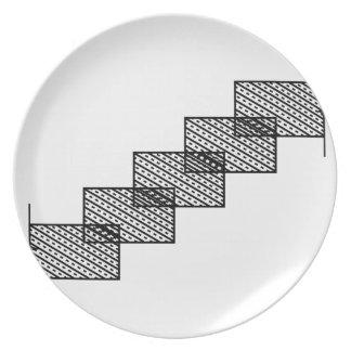 Rectangular stone stairs dinner plate
