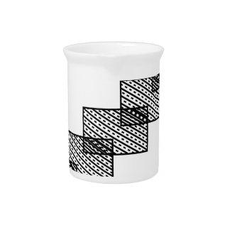 Rectangular stone stairs beverage pitcher