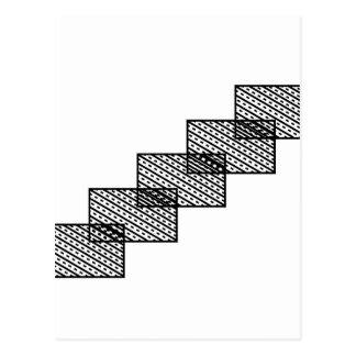 Rectangular stone stairs postcard