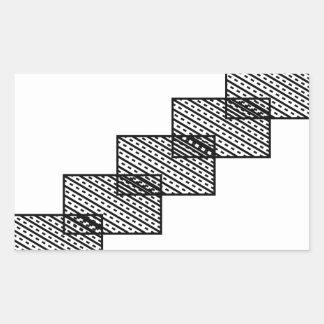 Rectangular stone stairs rectangular sticker