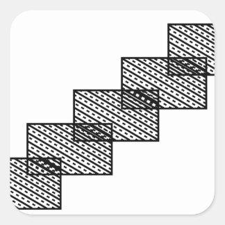 Rectangular stone stairs square sticker