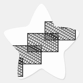 Rectangular stone stairs star sticker