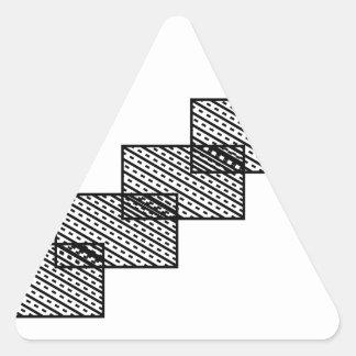 Rectangular stone stairs triangle sticker