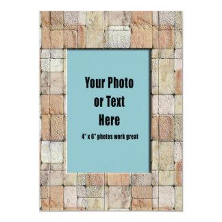 Rectangular Terra Cotta Stones Card