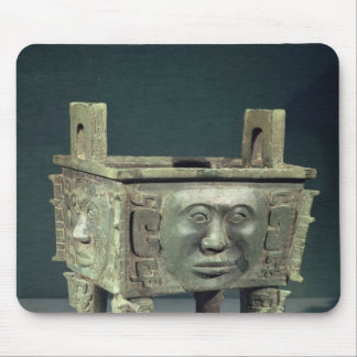 Rectangular 'ting' vessel with human faces mouse pad